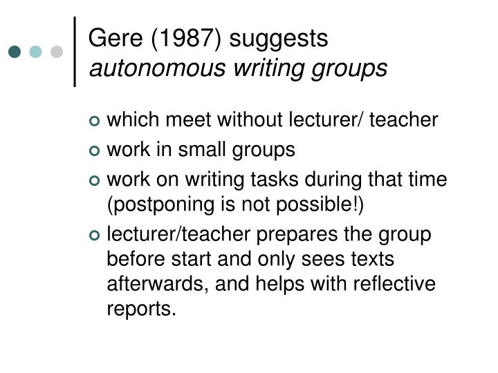 Gere (1987) suggests