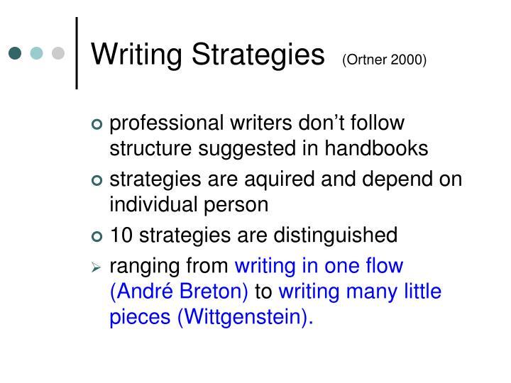 Writing Strategies