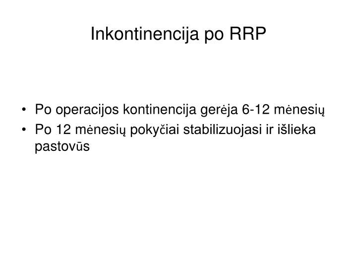 Inkontinencija po RRP