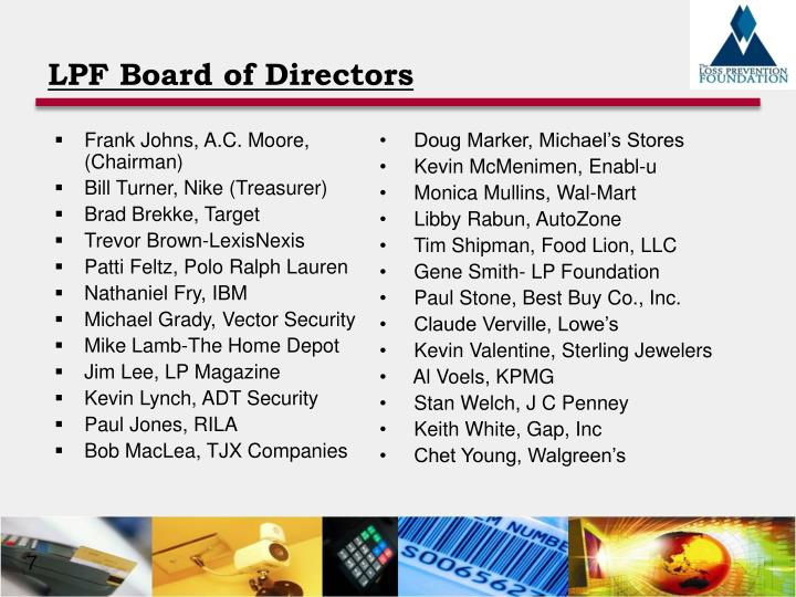 LPF Board of Directors