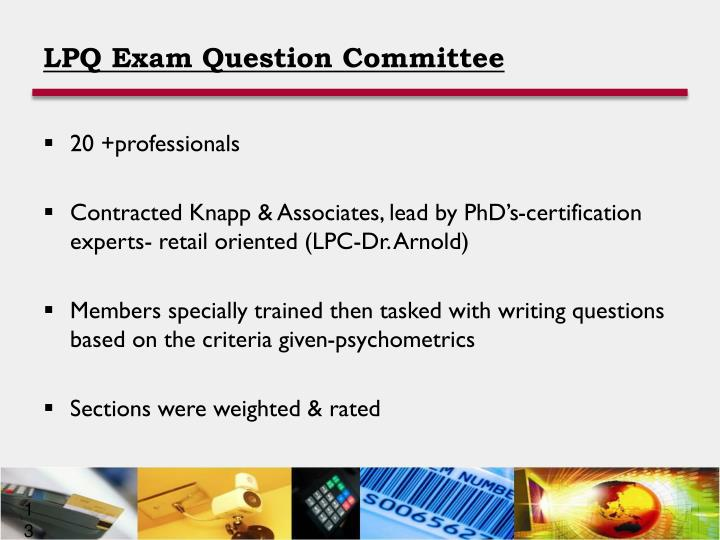 LPQ Exam Question Committee