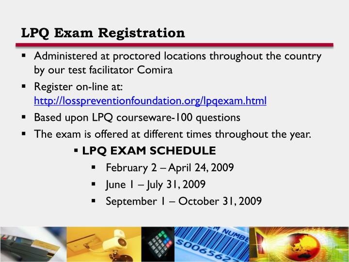 LPQ Exam Registration
