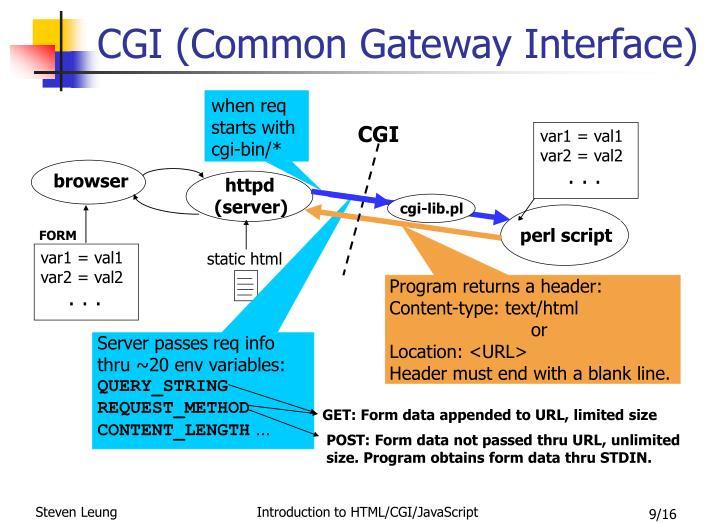 CGI (Common Gateway Interface)