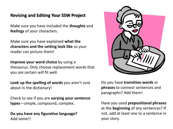 Revising and Editing Your SSW Project