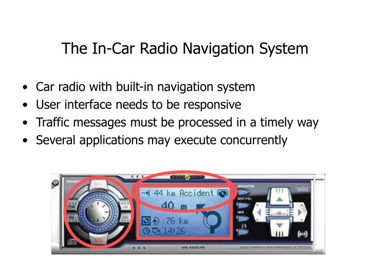 The in car radio navigation system
