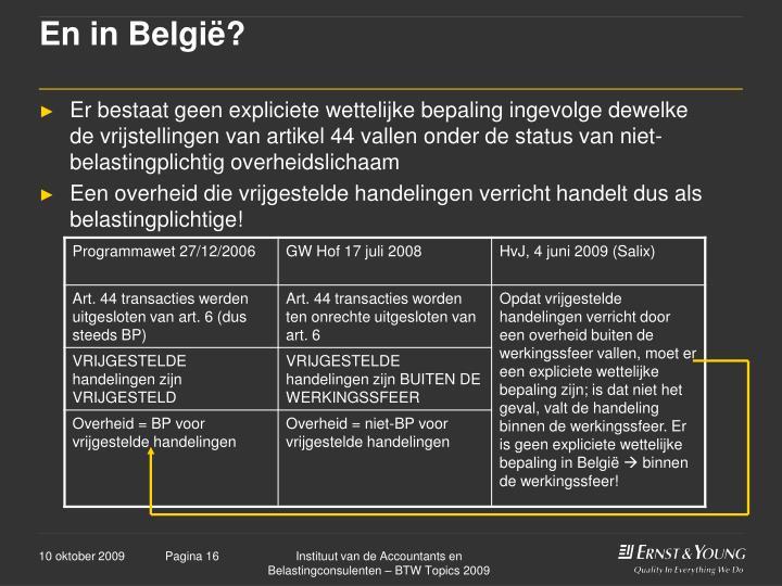 En in België?