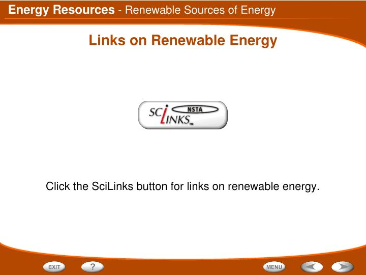 - Renewable Sources of Energy