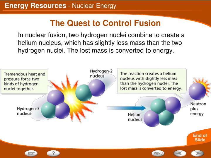 - Nuclear Energy