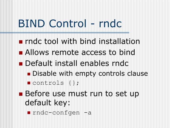 BIND Control - rndc