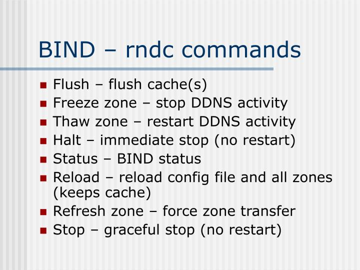 BIND – rndc commands