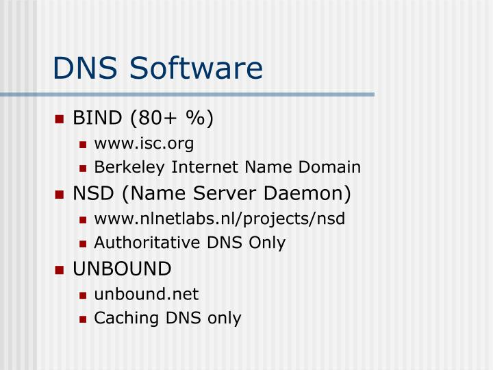 DNS Software
