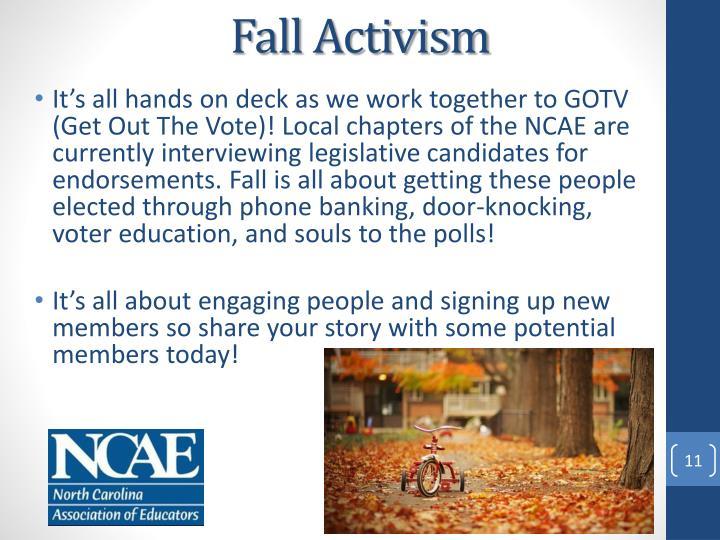 Fall Activism