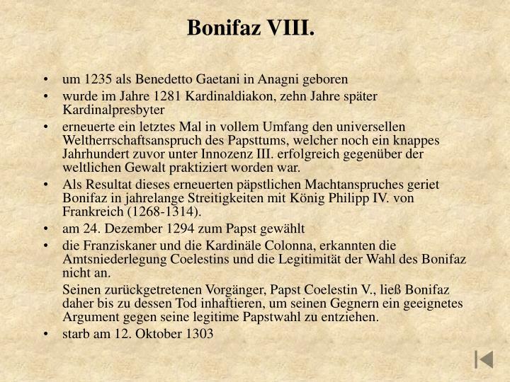 Bonifaz VIII.