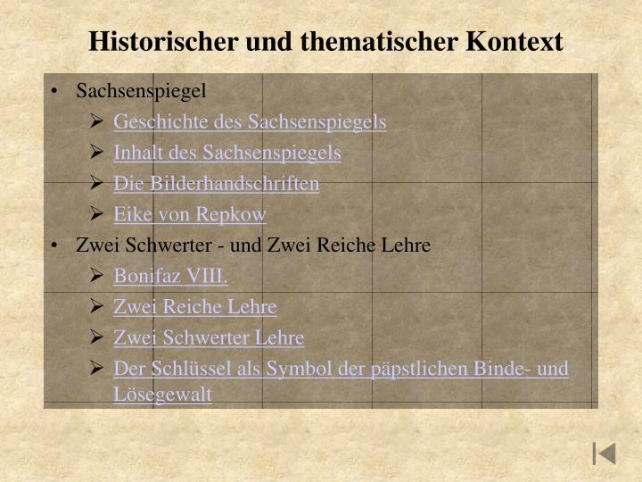 Historischer und thematischer Kontext