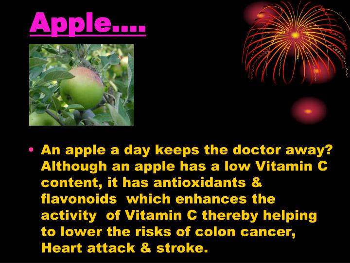 Apple….