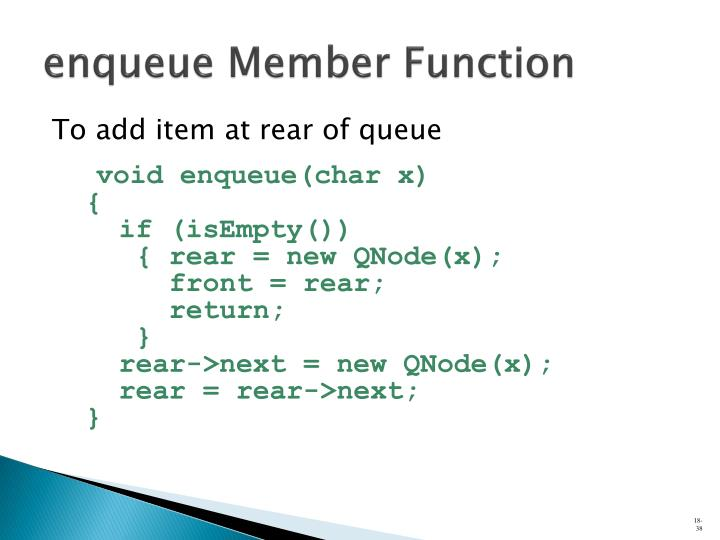 enqueue Member Function