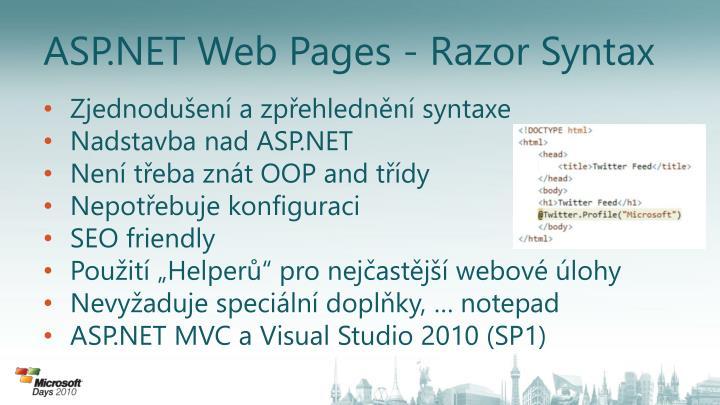 ASP.NET Web Pages