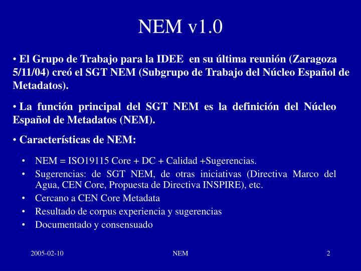 NEM v1.0
