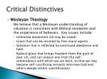 critical distinctives