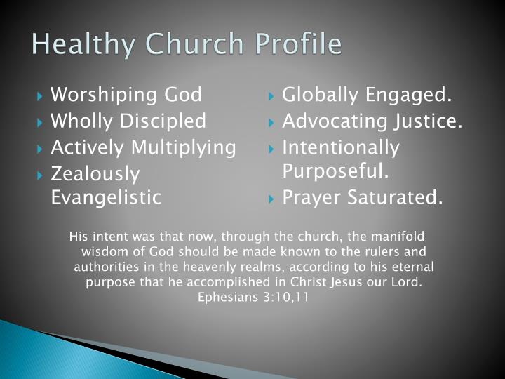 Healthy Church Profile