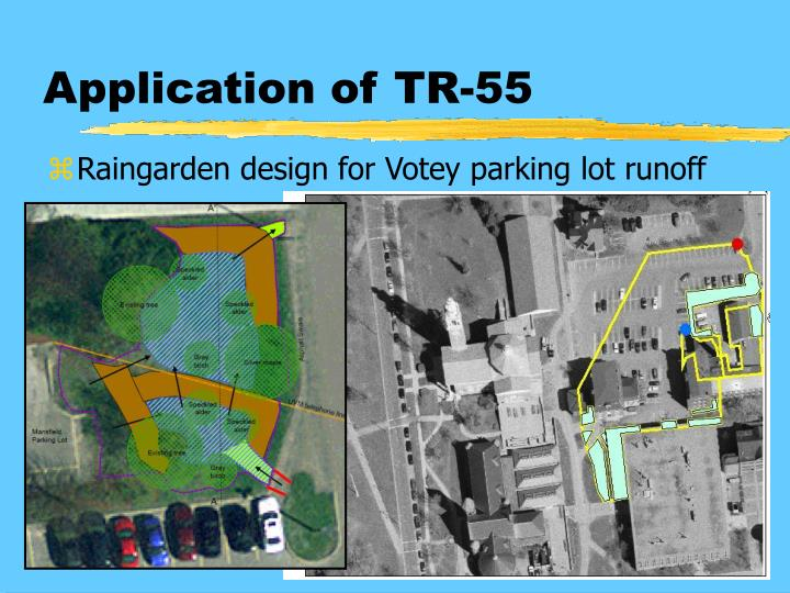 Application of TR-55