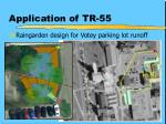 application of tr 55