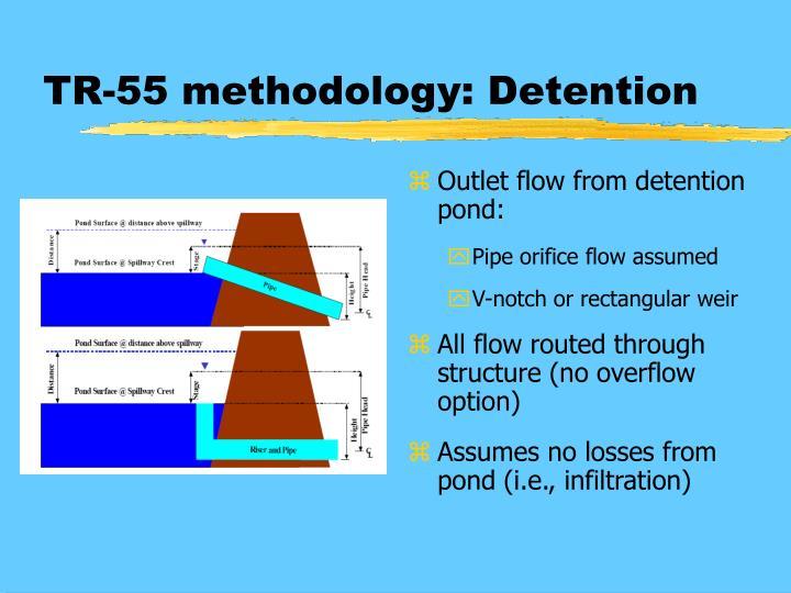 TR-55 methodology: Detention