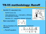 tr 55 methodology runoff
