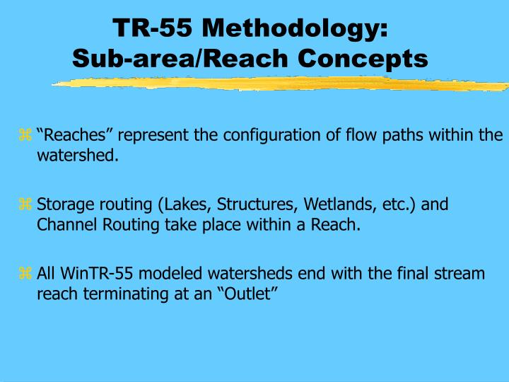 TR-55 Methodology: