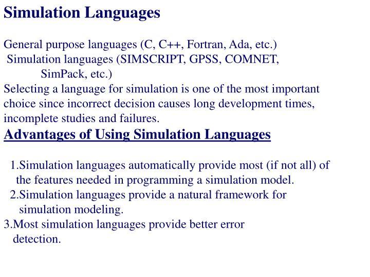 Simulation Languages