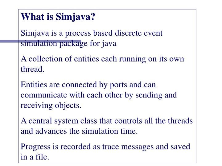 What is Simjava?