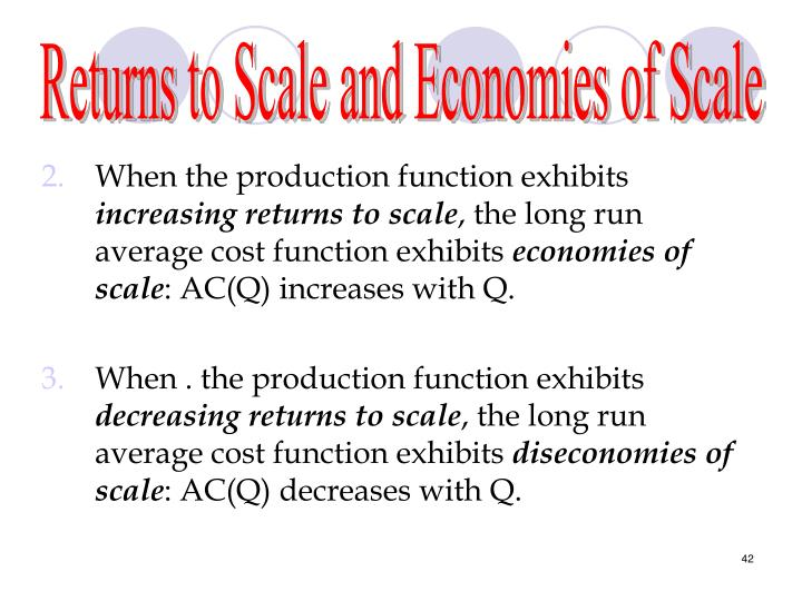 Returns to Scale and Economies of Scale