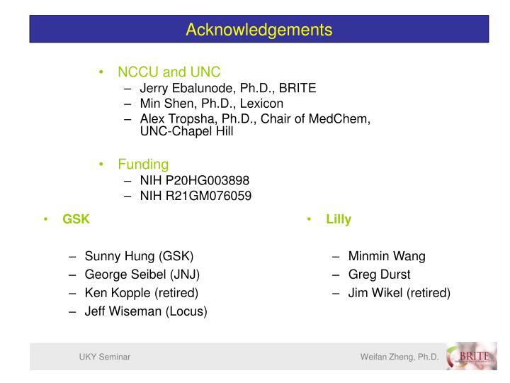 UKY Seminar            Weifan Zheng, Ph.D.