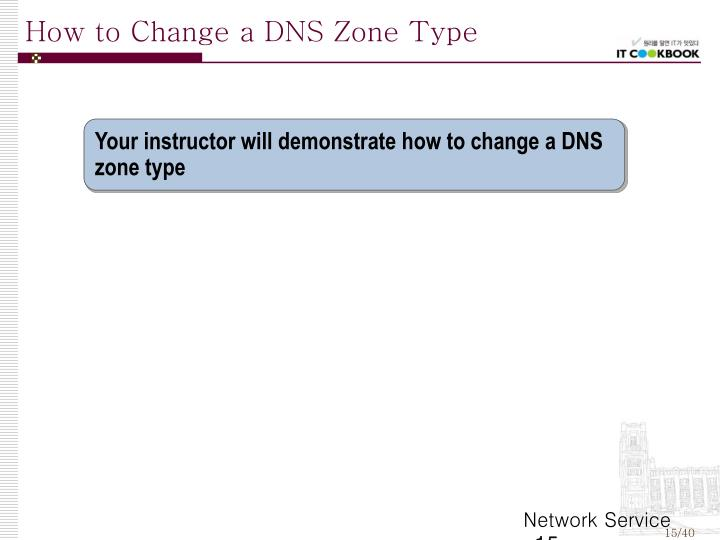 How to Change a DNS Zone Type