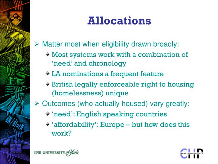 Allocations