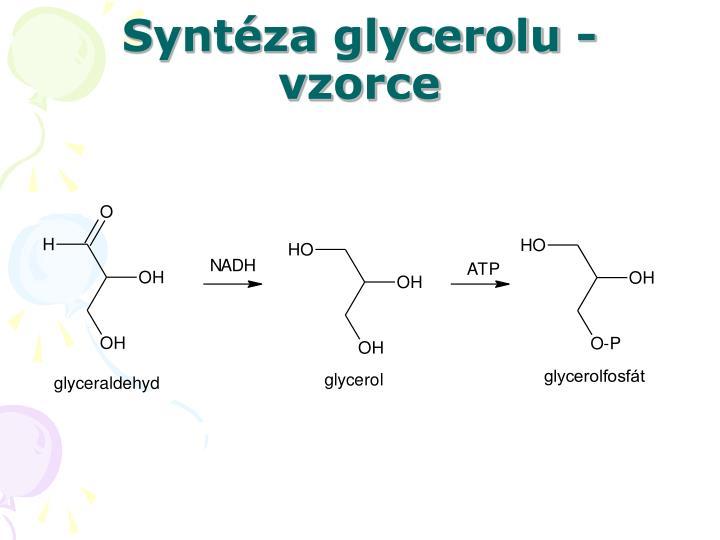 Syntéza glycerolu - vzorce