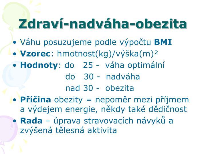 Zdraví-nadváha-obezita