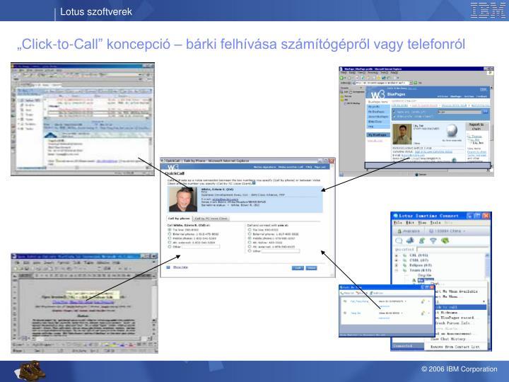 """""""Click-to-Call"""" koncepció – bárki felhívása számítógépről vagy telefonról"""