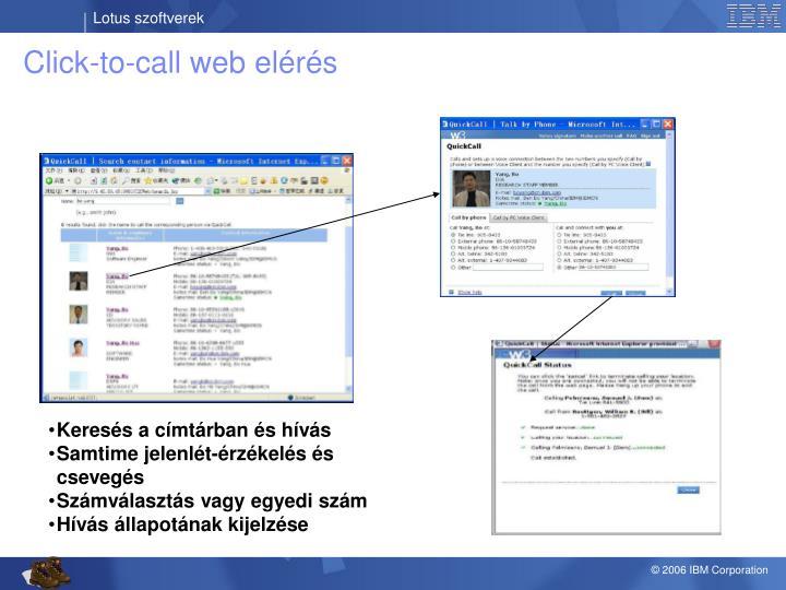 Click-to-call web elérés