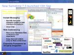 new sametime 7 5 launched 13th sep