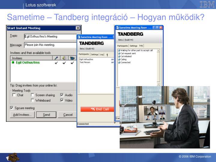 Sametime – Tandberg integráció – Hogyan működik?