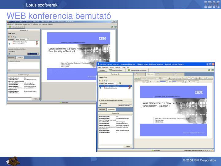 WEB konferencia bemutató