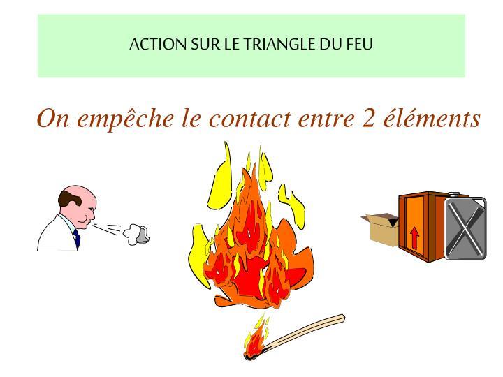 ACTION SUR LE TRIANGLE DU FEU