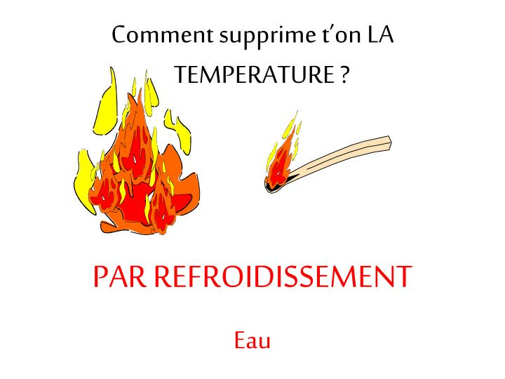 Comment supprime t'on LA TEMPERATURE ?