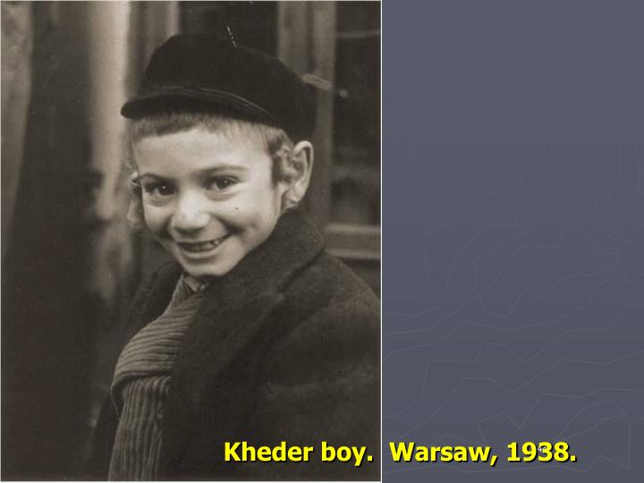 Kheder boy. Warsaw, 1938.