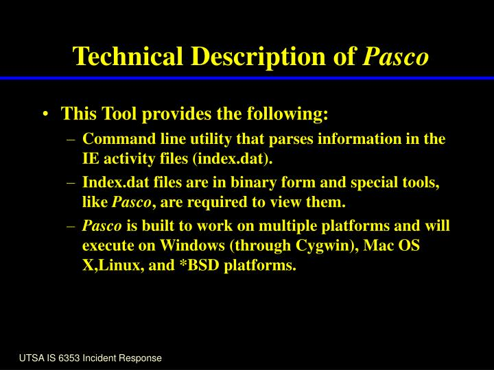 Technical Description of