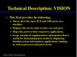 technical description vision
