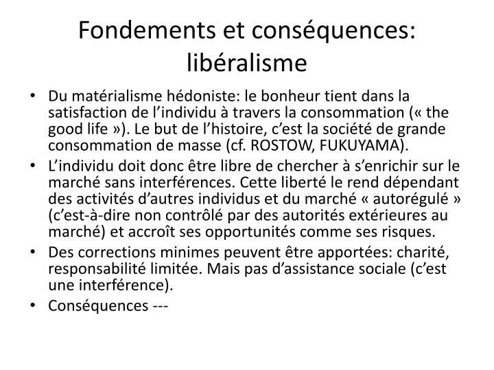 Fondements et conséquences: libéralisme
