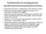 fondements et cons quences socialisme communisme anarchisme