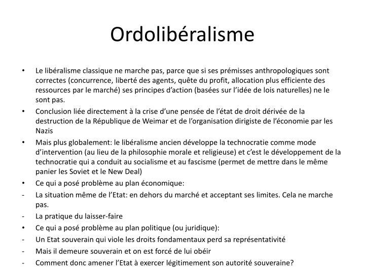 Ordolibéralisme